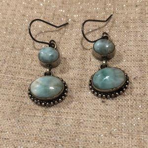 Larimar Earrings, 925